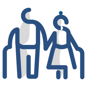 icon of an outlined older man and woman